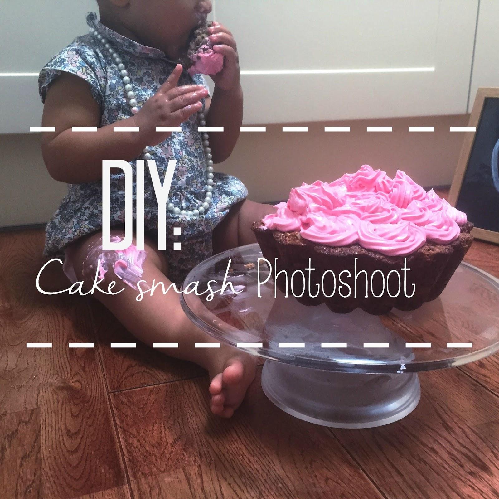 Diy First Birthday Cake Smash Photo Shoot