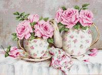 "Luca-S BA2319 ""Trandafiri roz"""