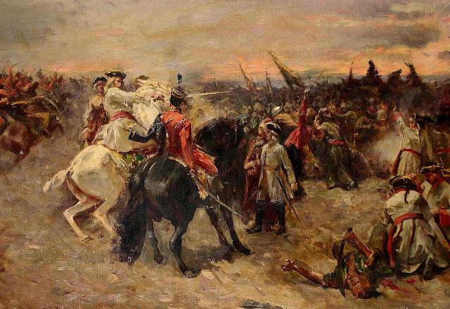 Príncipe Eugenio de Sabóia na batalha de Zenta