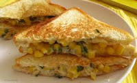 Recipe of corn cheese sandwich