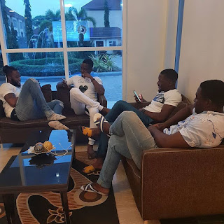 Ex BBNaija Housemates, Teddy A, Tobi, Leo And Bitto Hang Out Together