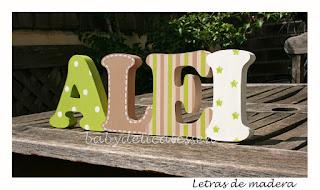 letras de madera infantiles para pared Alei babydelicatessen