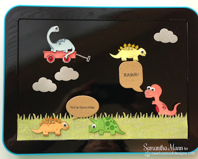 Dinosaur magnets made by Samantha Mann