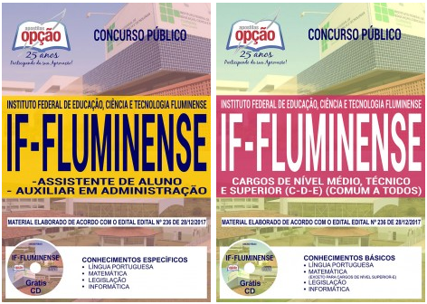 apostila concurso IFF Instituto Federal Fluminense RJ 2018