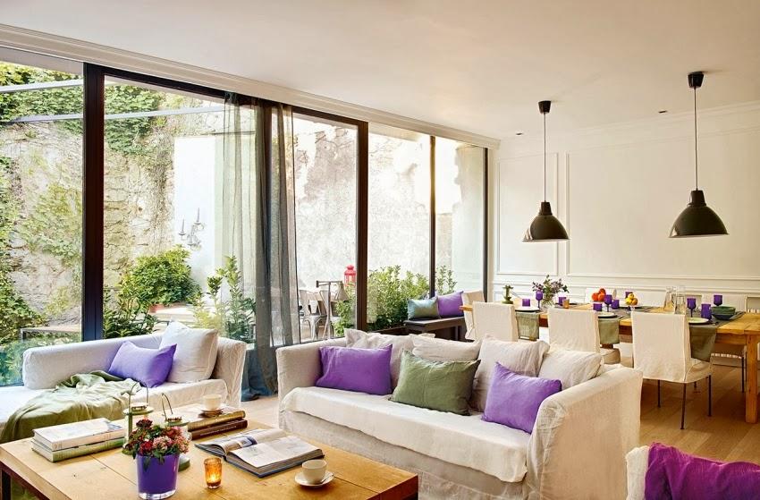 Ciepły, słoneczny domek w skandynawskim stylu, wystrój wnętrz, wnętrza, urządzanie domu, dekoracje wnętrz, aranżacja wnętrz, inspiracje wnętrz,interior design , dom i wnętrze, aranżacja mieszkania, modne wnętrza, styl skandynawski, scandinavian style, białe wnętrza, biel, salon