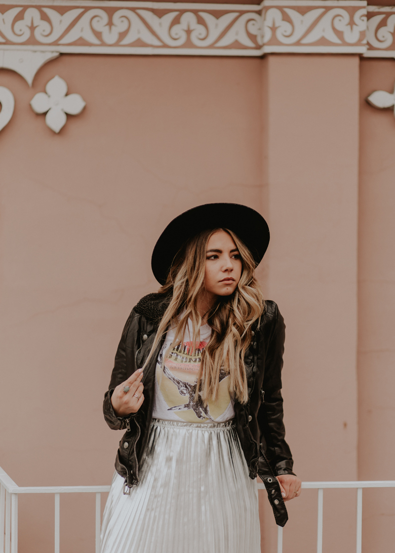 free people, faux leather, wide brim hat