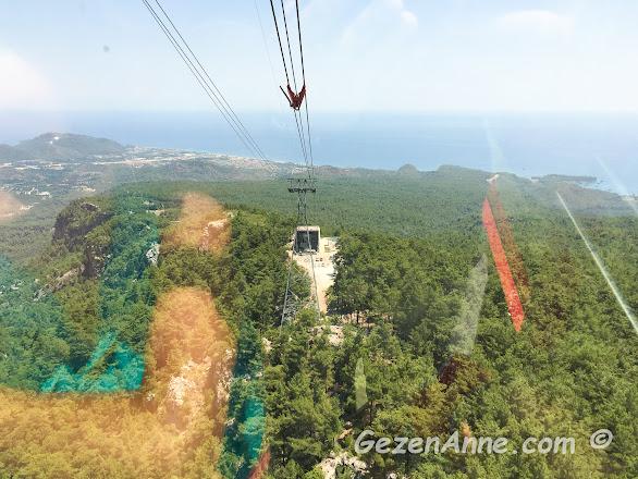 Teleferikle Tahtalı Olimpos dağına çıkarken, Tekirova Antalya