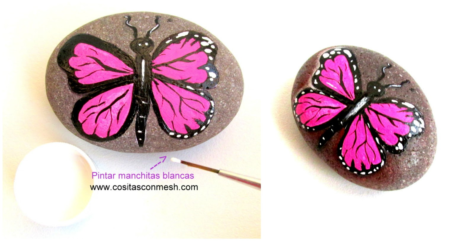 Ideas Bonitas Para Pintar Mariposas En Piedras Cositasconmesh - Dibujos-para-pintar-piedras