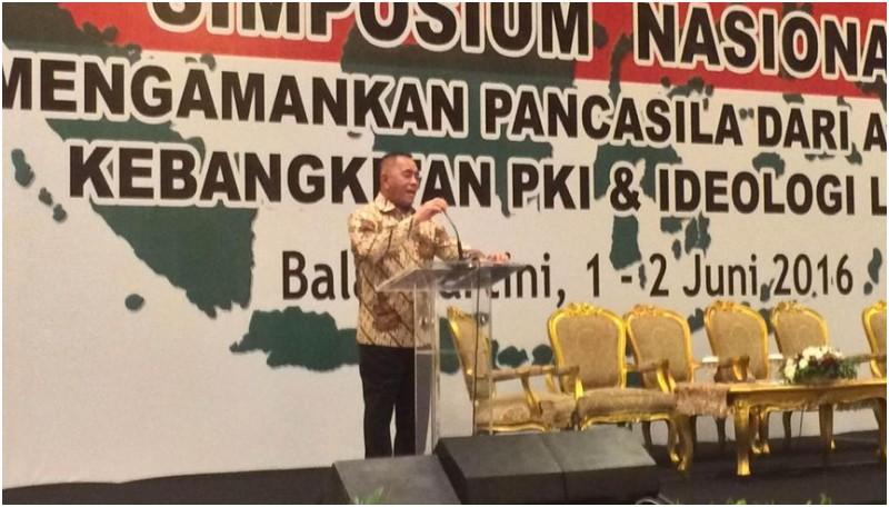 Menhan Ryamizard Ryacudu di Simposium Anti PKI di Jakarta