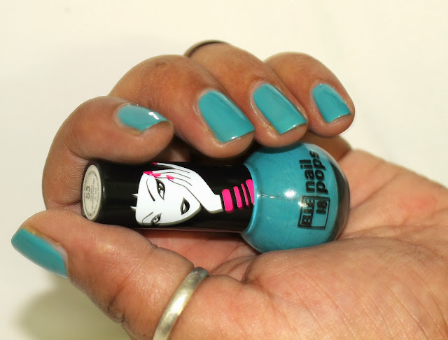 Elle 18 Nail Pop 53 (A Pretty, Muted Shade From Color Cyan Family)