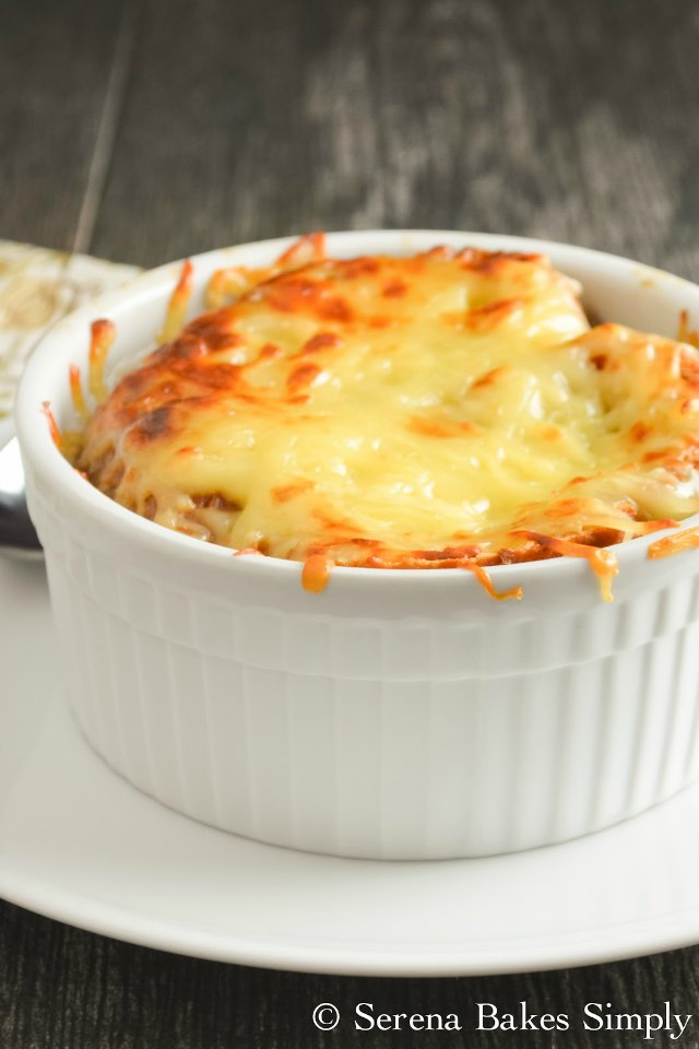 The best French Onion Soup from Serena Bakes Simply From Scratch.