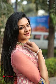 Actress Vimala Raman Stills in Beautiful Pink Salwar Kameez at (ONV) Om Namo Venkatesaya Press Meet  0205.JPG