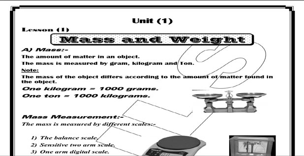 تحميل ملزمة science للصف السادس الابتدائي الترم الأول pdf
