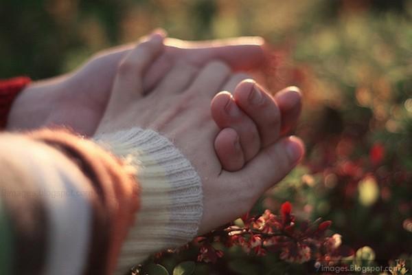 Holding hand cute couple romantic love