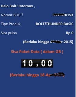 √ Cara cek sisa kuota paket internet Bolt Yang baru 17