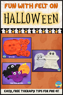 Fun, free and easy therapy ideas with felt for Halloween!