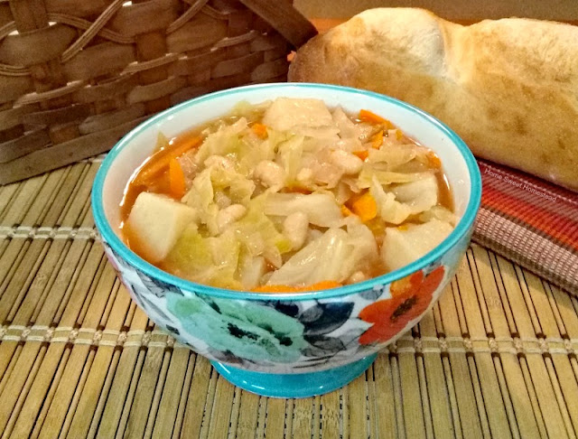 Home Sweet Homestead: Italian Cabbage Potato and Bean Soup