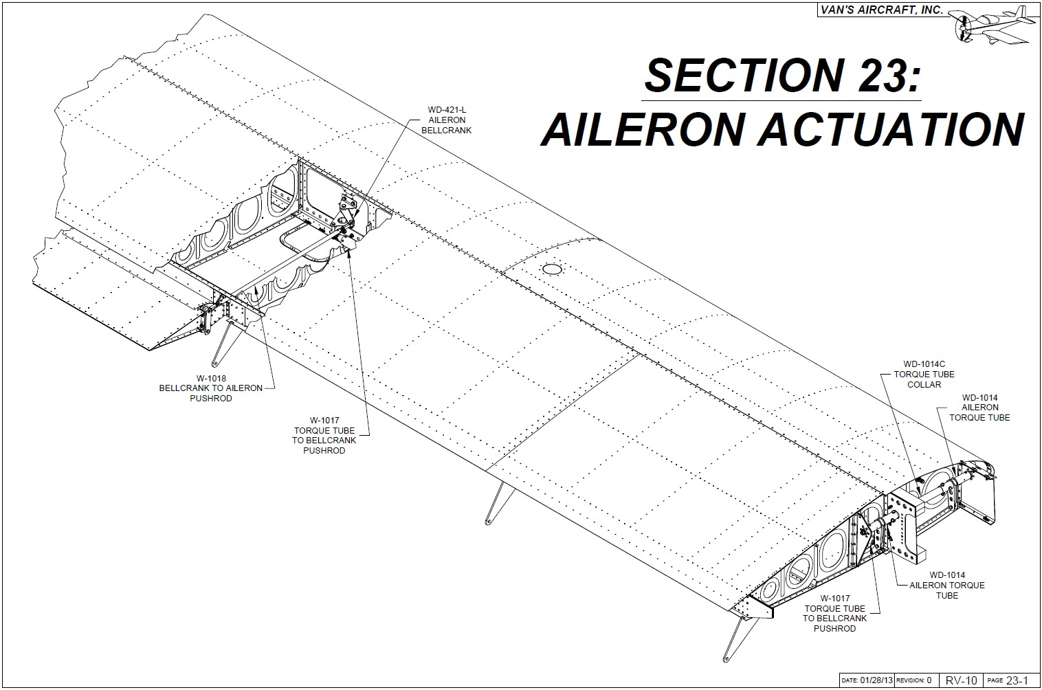 Operation Rv 10 Aileron Actuation