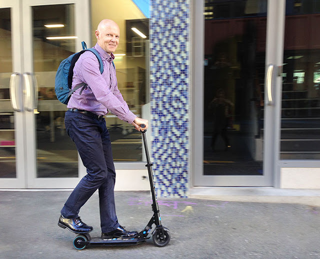 John on the ultimate personal electric transportation device