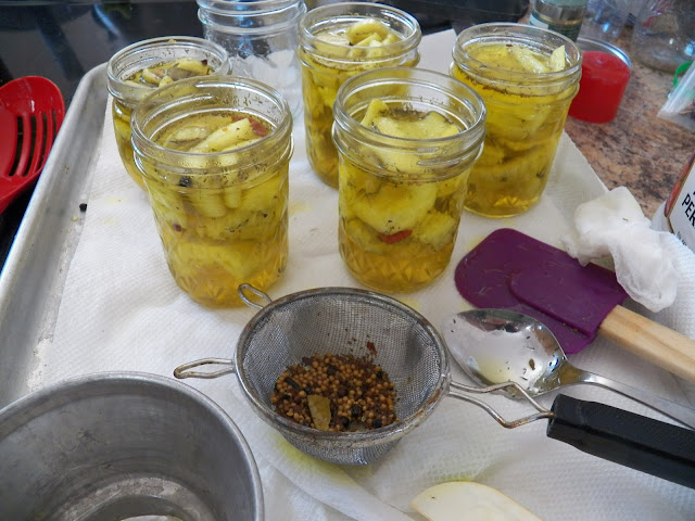Asier in jars, ready for processing