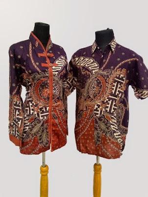 Model baju batik couple lengan panjang untuk remaja