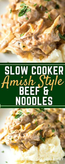 Slow Cooker Amish Beef & Noodles