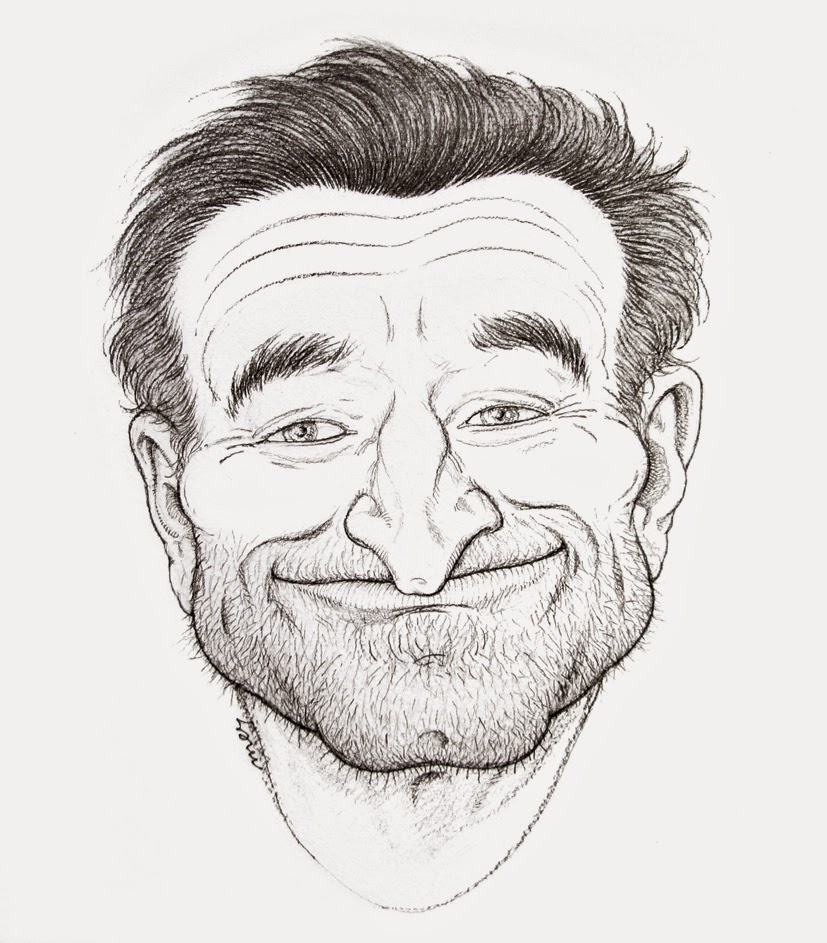 liquid drawings: For Mr. Robin Williams (1951-2014)