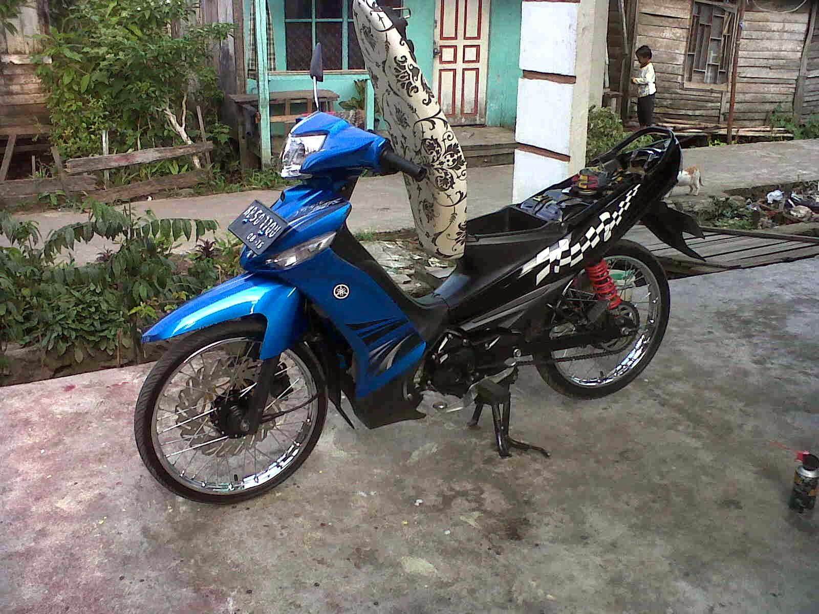 93 Modif Motor Vega Zr Warna Biru Terkeren