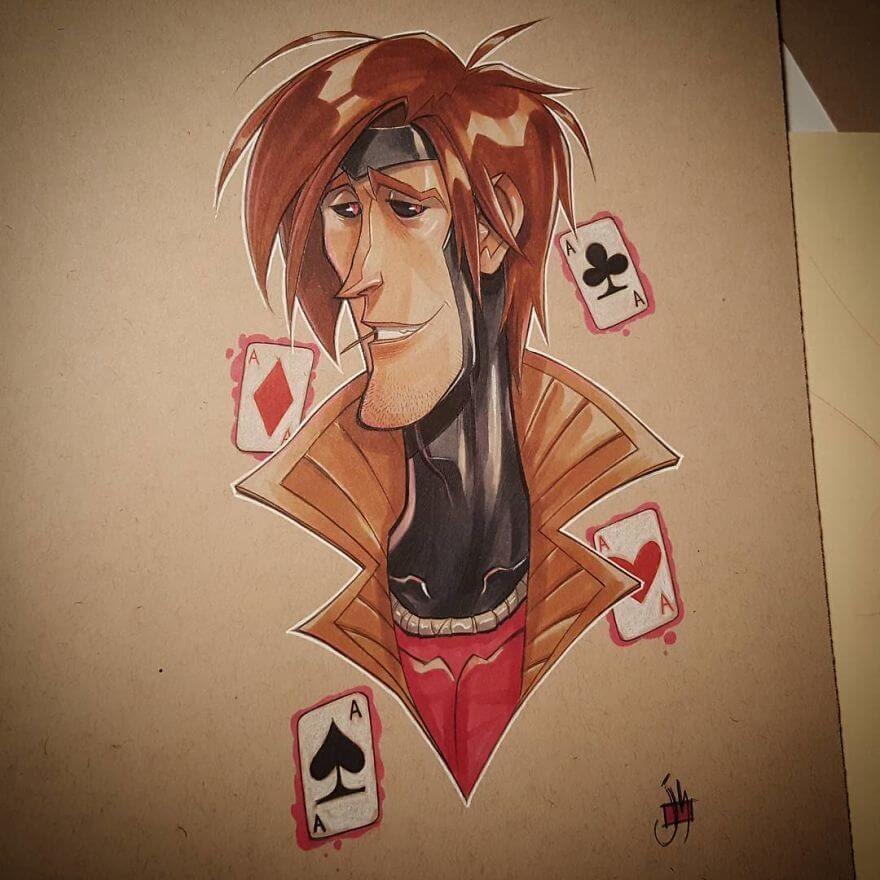07-Gambit-X-Men-Jeremiah-Hause-www-designstack-co