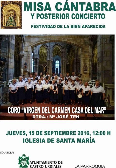Misa Cántabra y Concierto -Festividad de la Bien Aparecida en Castro urdiales