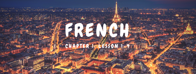 French Chapter 1: Lesson 1-4