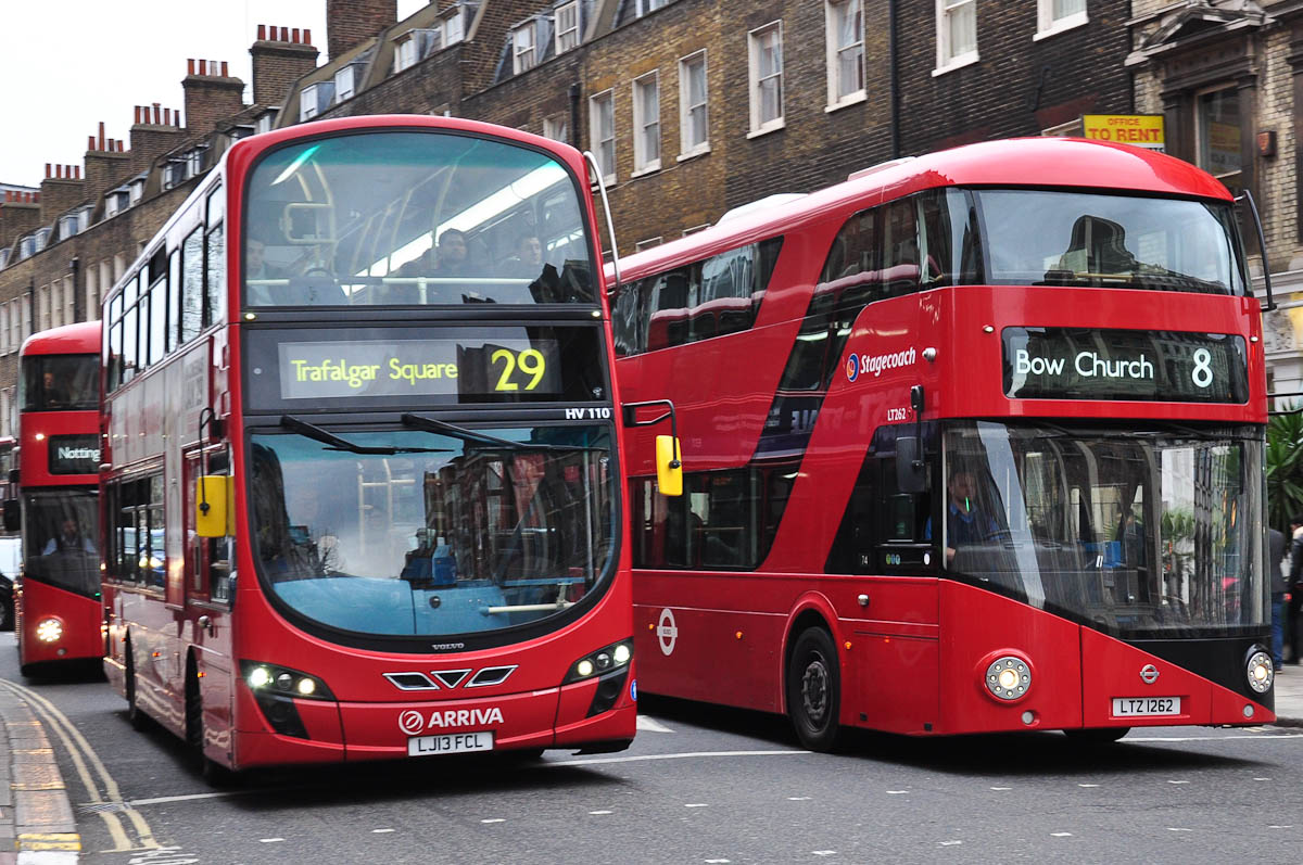 Double-decker buses, London, England