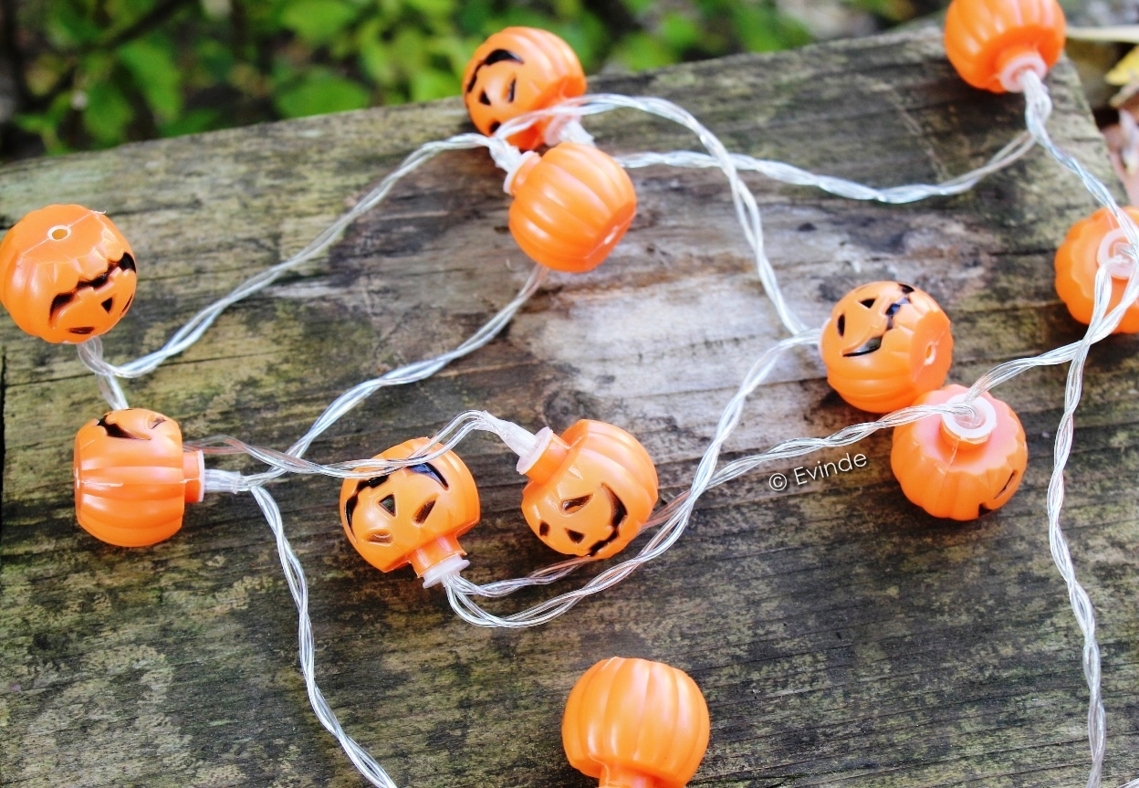 pumpkin LED fairy lights