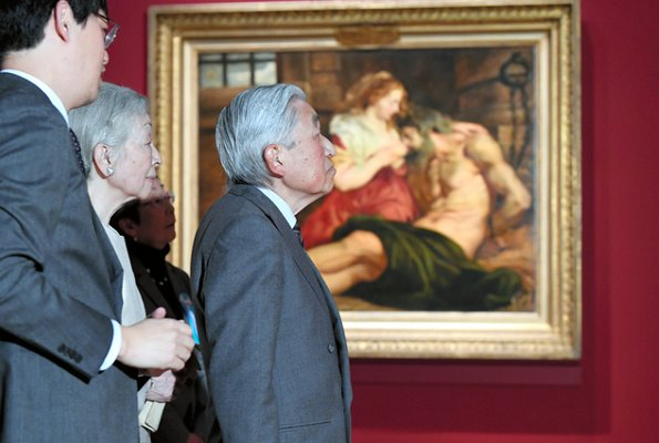 Emperor Akihito and Empress Michiko visited the Rubens and the Birth of the Baroque exhibition at National Museum
