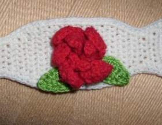 Wollmutters Handarbeiten Häkelblumen Rose Häkeln