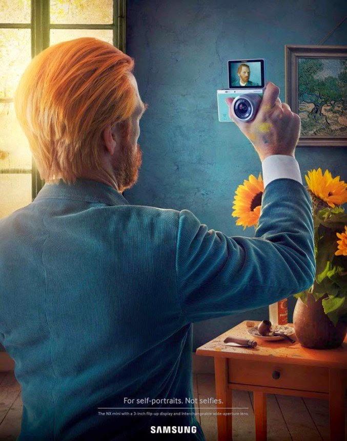 Campaña publicitaria samsung fotos selfies Van Gogh