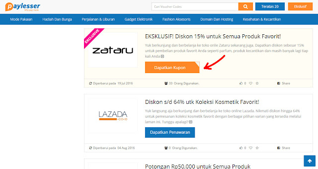 Kode Voucher Diskon Paylesser Indonesia