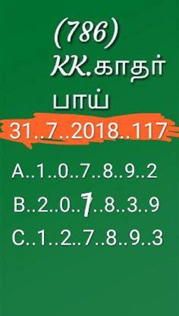 kerala lottery guessing abc all board sthree sakthi SS-117 on 31.07.2018