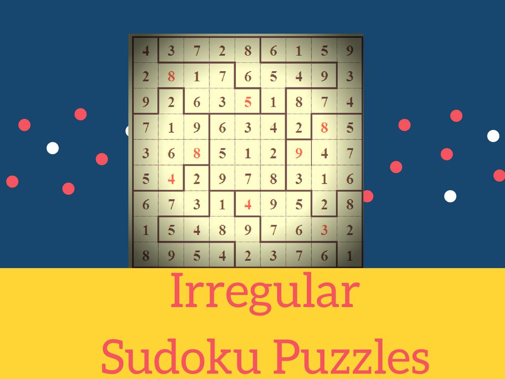 It's just an image of Resource Irregular Sudoku Printable