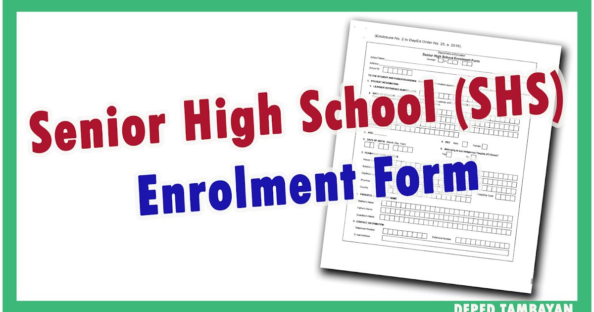 Alpabetong Filipino Worksheet For Grade 1 : Shs enrolment form deped tambayan ph