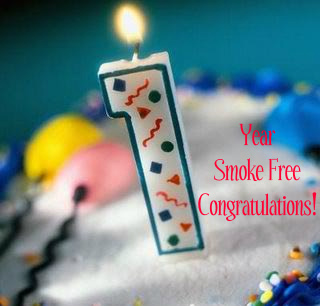 Image result for congratulations on not smoking 1 years