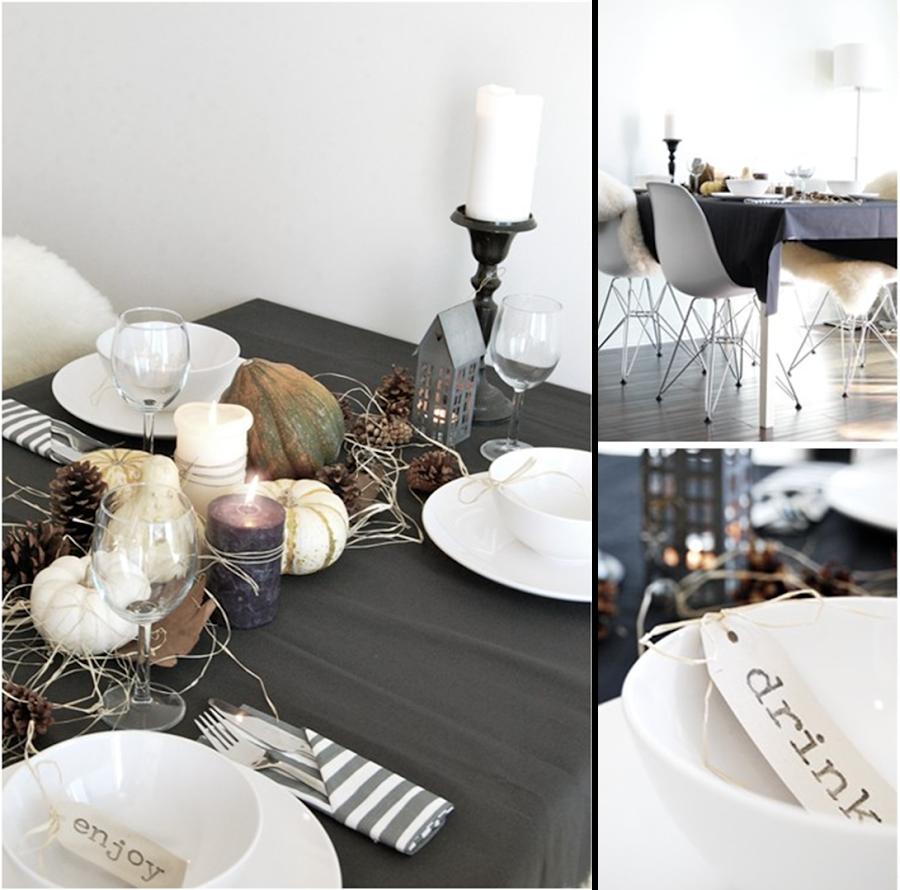 Como decorar tu mesa Halloween con elementos naturales y centro de mesa con hortalizas