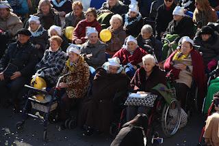 Fiesta de fin de año en la residencia de ancianos de la Fundación Miranda