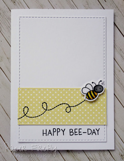 Punny birthday card with cute bee using Meant to Bee by MFT