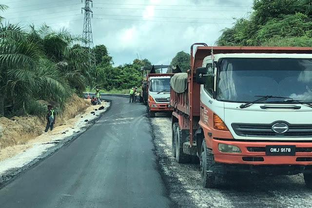 Jalan Miri-Marudi Kini Siap 87 Peratus