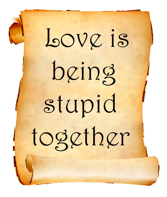 Love is being stupid