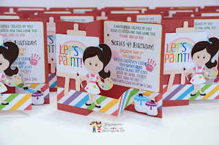 art painting party, handmade painting invitations, invitations