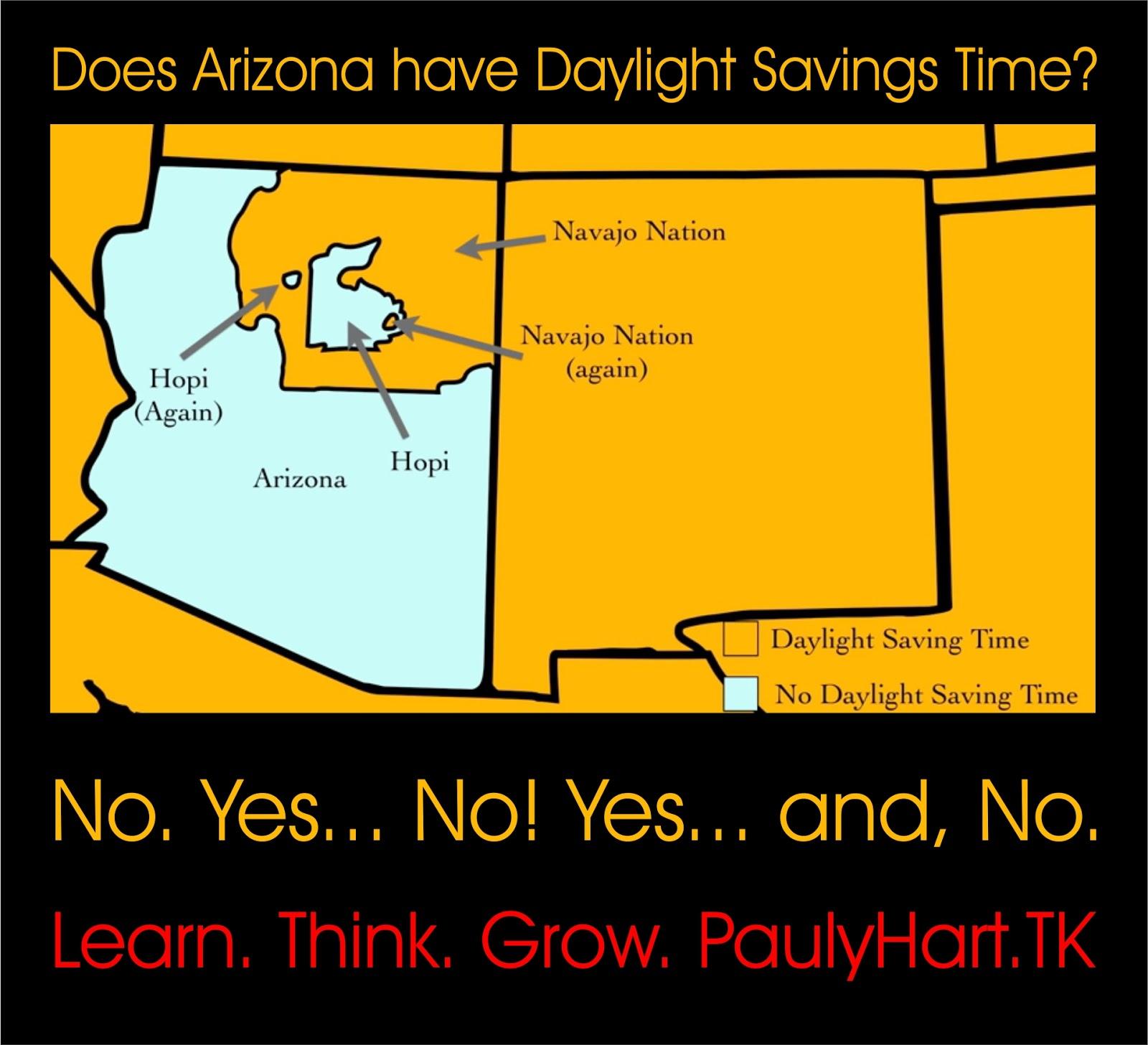 Map Of Arizona Daylight Savings Time.Arizona Daylight Savings Map Bnhspine Com