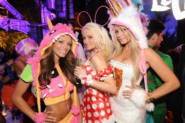 Halloween Night in Las Vegas in USA