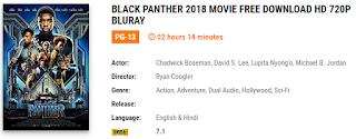 Black Panther 2018 free download